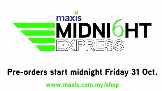 Maxis says it will deliver the iPhone 6 to you wherever you are for free on midnight November 6