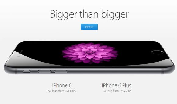 iPhone 6 and iPhone 6 Plus now available on Malaysian Apple Online Store