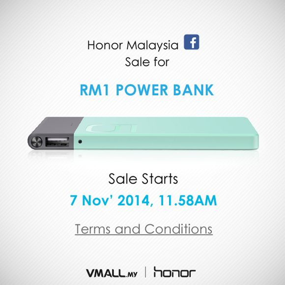 Today only: Honor offers powerbank for just RM1