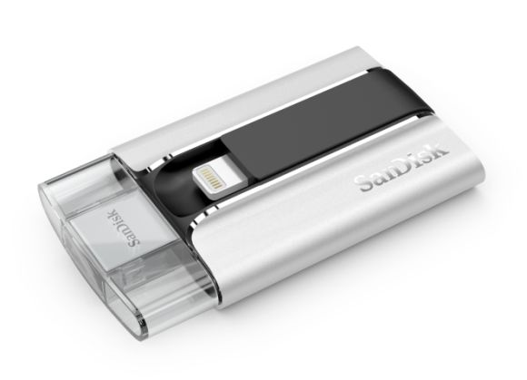 SanDisk iXpand Flash Drive helps to free up more storage on your iPhone and iPad