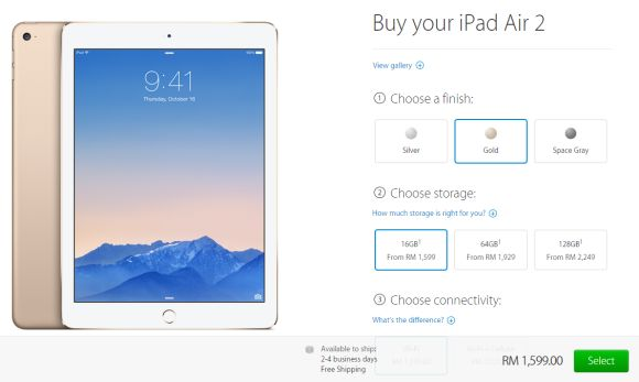 iPad Air 2 and iPad mini 3 goes on sale in Malaysia