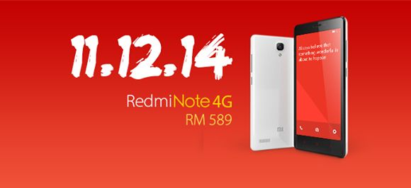 Redmi Note 4G goes on sale next Thursday