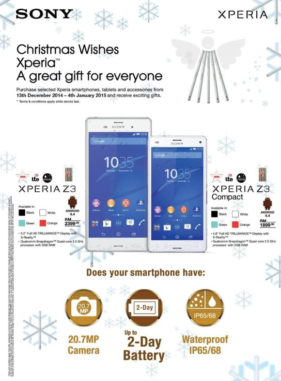 Sony Mobile offers more freebies for Xperia devices this Christmas