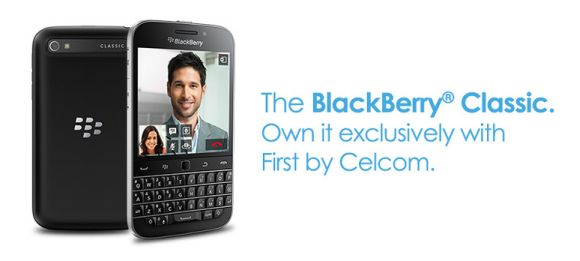 BlackBerry Classic priced at RM1,588 in Malaysia. Celcom starts registration of interest