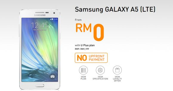 Samsung Galaxy A5 available for Free on U Mobile