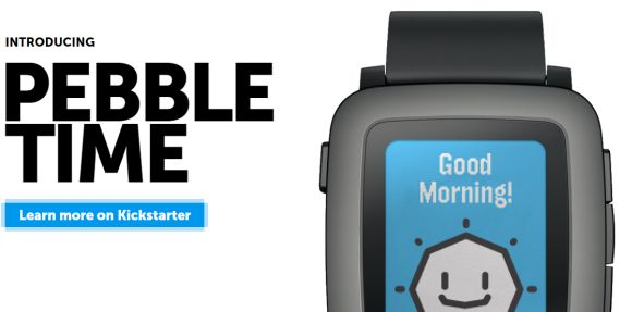 Pebble Time – The popular week-long battery life smart watch now comes in colour