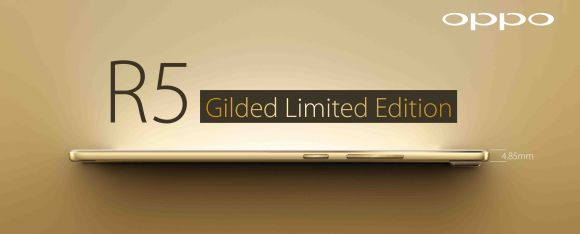 OFFICIAL: The Limited Edition Gilded Oppo R5 goes on sale in Malaysia on Valentine's Day