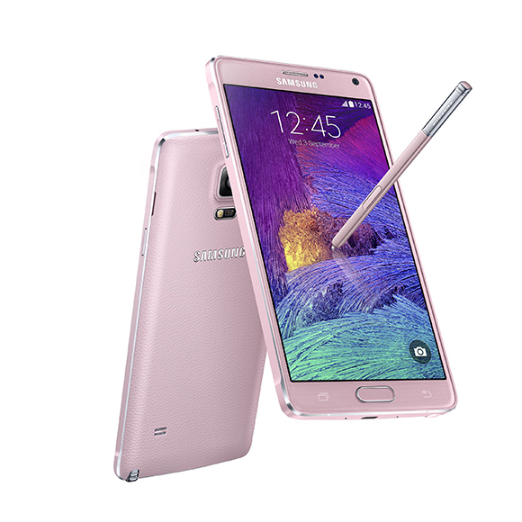 The Samsung Galaxy Note 4 pops in pink