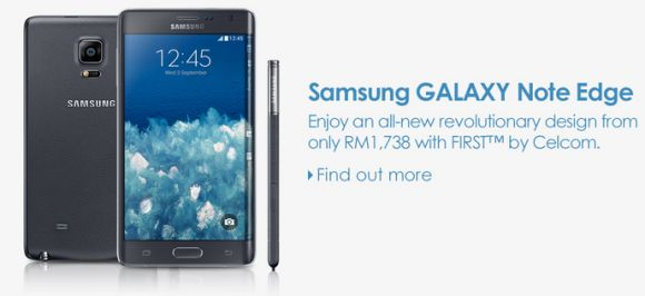 Celcom offers the Galaxy Note Edge on contract