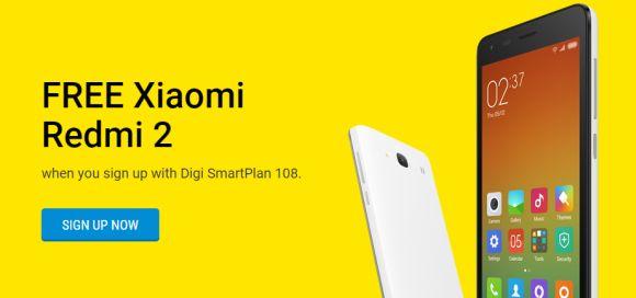 Xiaomi Redmi 2 offered for free on Digi SmartPlan