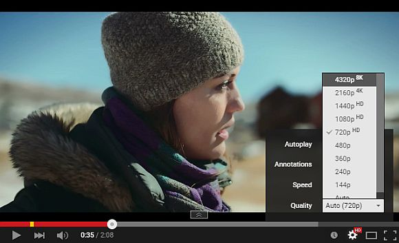 Struggle to get 4K content? Now here's a YouTube video in 8K