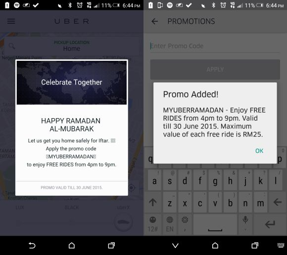 Head home for berbuka puasa with Free Rides from Uber