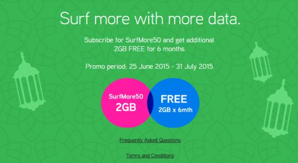 Maxis doubles up SurfMore 50 quota to 4GB for 6 months