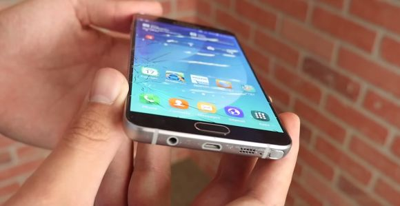 The Galaxy Note 5 drop tested. You'll definitely need a case for this