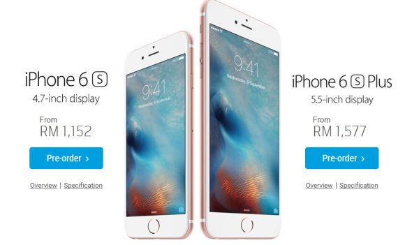 Digi offers the iPhone 6s from RM1,152 on contract