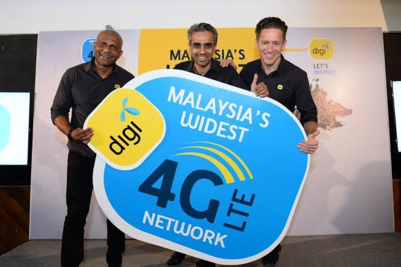Digi is now Malaysia's widest 4G LTE network provider