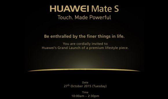 Huawei Mate S is launching in Malaysia next week
