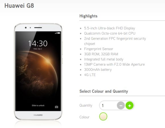 Huawei G8 now available from Maxis with Zerolution program