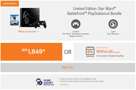 TM Unifi opens pre-order for the Limited Edition Star Wars Battlefront PlayStation 4 Bundle