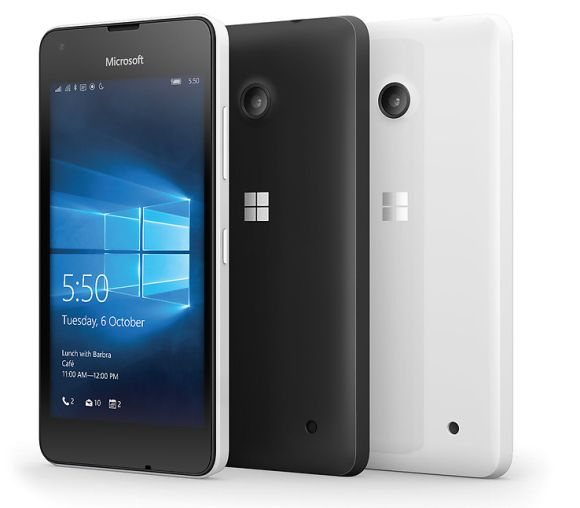 Microsoft's low cost Lumia 550 smartphone now available outright