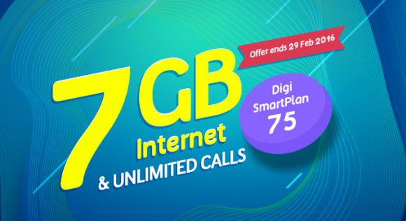 Digi offers 7GB of internet and unlimited calls for RM75/month