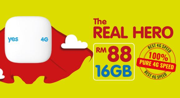 Yes now offers 16GB of internet for only RM88/month