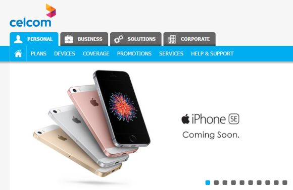 Celcom and Digi are offering the iPhone SE soon