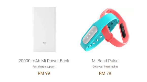 Mi 20,000mAh Powerbank and Mi Band Pulse are available on 6 April