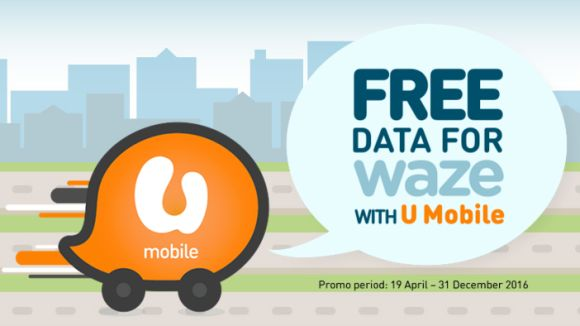 U Mobile lets you use Waze with no data charges