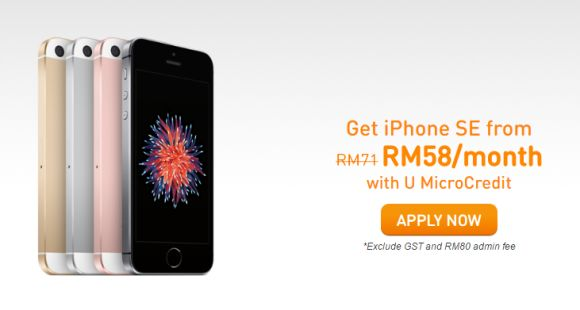 U Mobile offers the iPhone SE from RM705 with easy payment options available