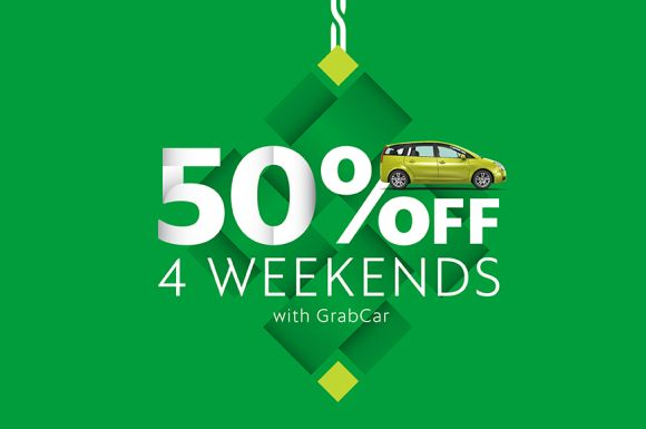 Get 50% off your weekend rides with GrabCar