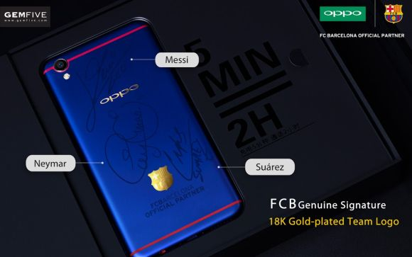 Bidding for OPPO F1 Plus FC Barcelona Player's Signature Edition is now open