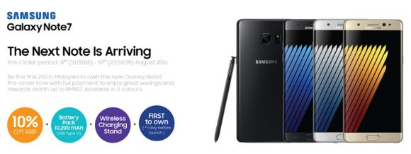 Here's where you can pre-order your very own Samsung Galaxy Note7 | SoyaCincau.com