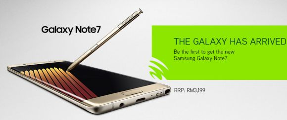 Maxis offers the Galaxy Note7 from RM101/month