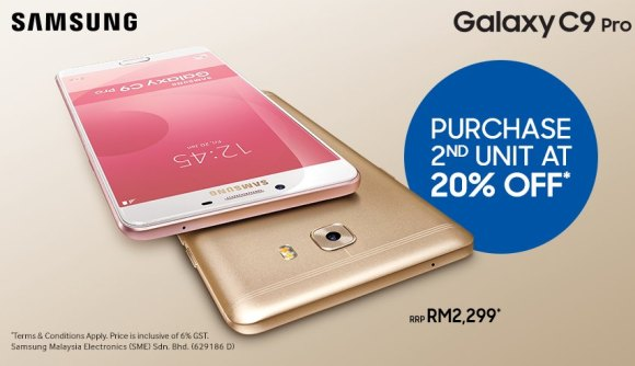 Samsung Malaysia continues its 20% off promo for the Galaxy C9 Pro