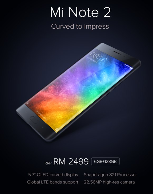 Xiaomi Mi Note 2 Is Now Official In Malaysia At Rm2 499