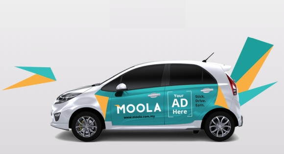 If you get accepted for an ad campaign moola will then stick a bunch of car vinyl sticker ads on either your cars doors bonnet or boot
