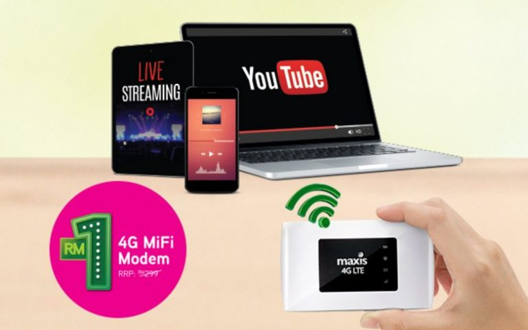 Maxis simplifies its Wireless Broadband offering for on the go and home usage