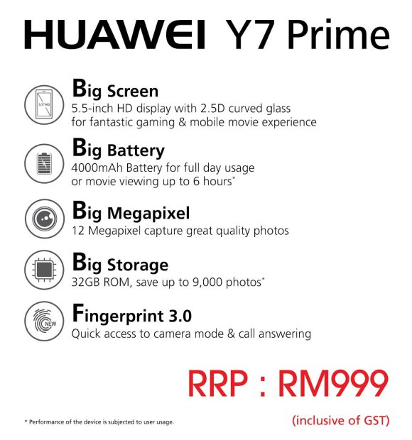 Huawei Y7 Prime: A budget smartphone with a 5 5