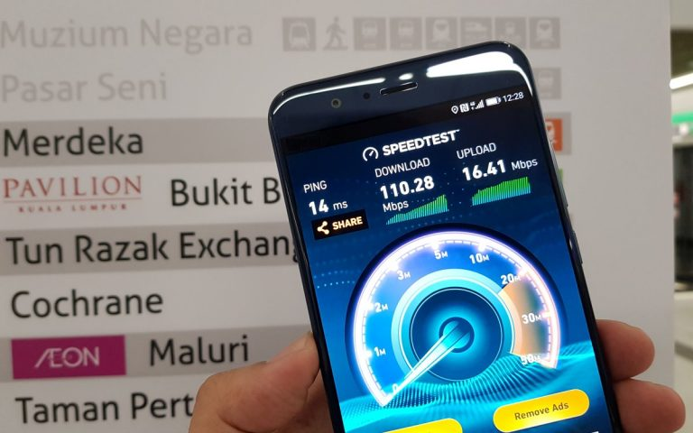 Which telco provides the best underground 4G experience on the MRT?