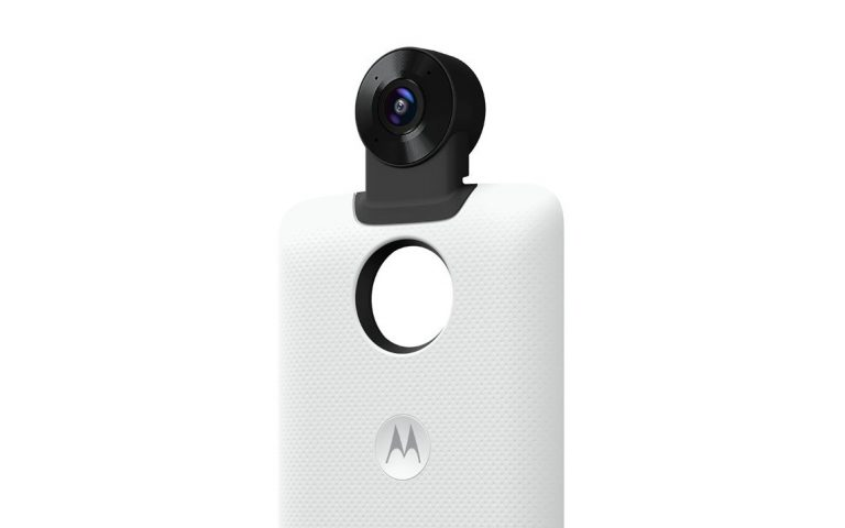 Motorola now has a 360 camera Mod for the Moto Z series