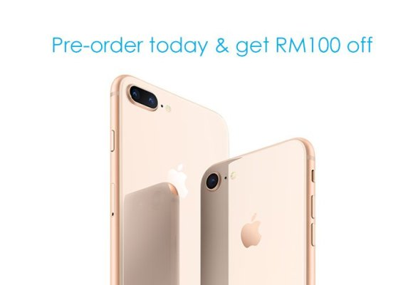 iPhone 8 Malaysia Pre-order RM100 off Celcom