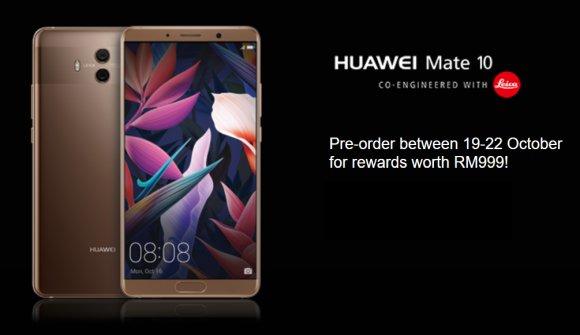 Huawei Mate 10 Maxis Pre-order