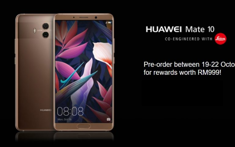 Maxis opens pre-order for the Huawei Mate 10 from RM1,499