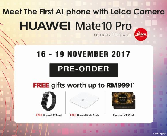 Huawei Malaysia releases the Mate 10 Pro on iPhone X day