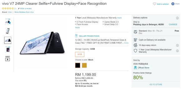 vivo V7 and V5Plus gets a price cut in Malaysia | SoyaCincau com