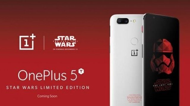 There's a limited edition OnePlus 5T for Star Wars: The Last Jedi