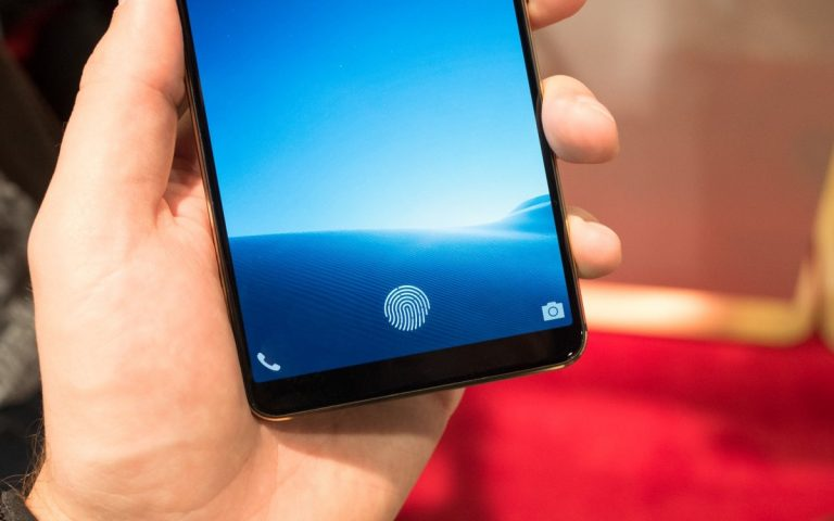 This is supposedly the world's first smartphone with an in-display fingerprint sensor