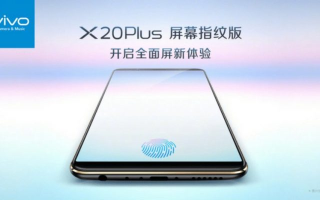 vivo X20 Plus UD is the world's first smartphone with an in-display fingerprint sensor
