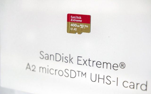 SanDisk has the world's fastest 400GB microSD card